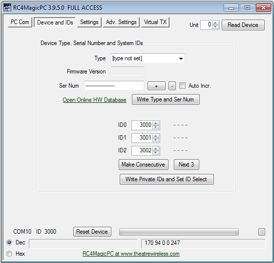 RC4MagicPC Remote Configuration Software