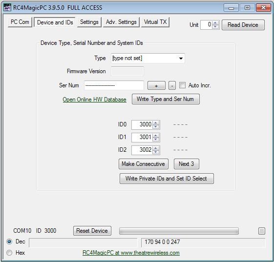 RC4MagicPC Remote Configuration Software - RC4 Wireless