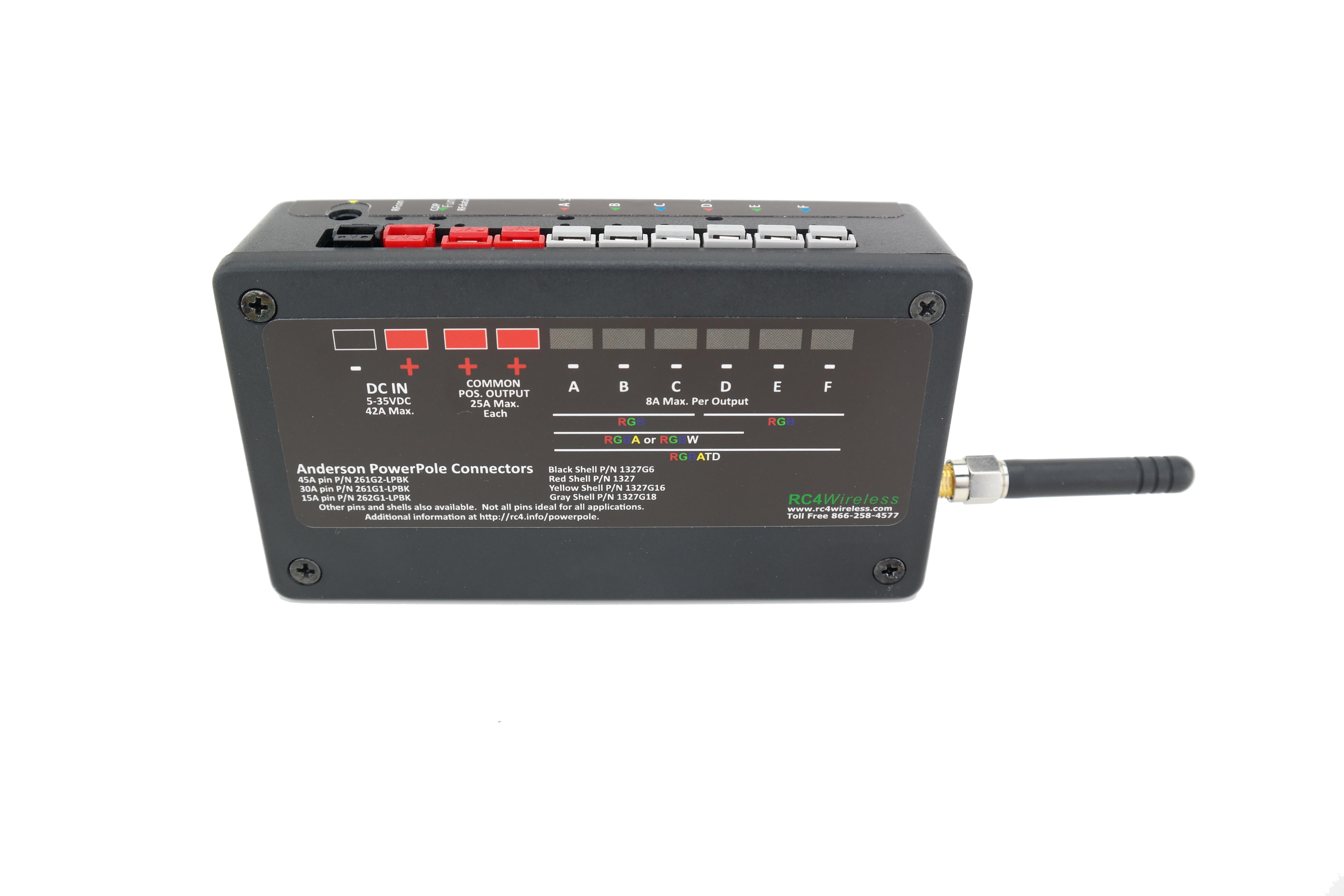 RC4Magic S3 DMX6dim-500 High Power 6-Channel Wireless Dimmer