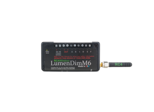 LumenDimM6 Miniature 6-Channel CRMX Wireless Dimmer